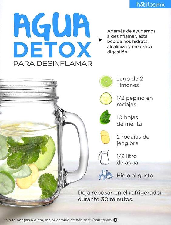 Agua detox limón