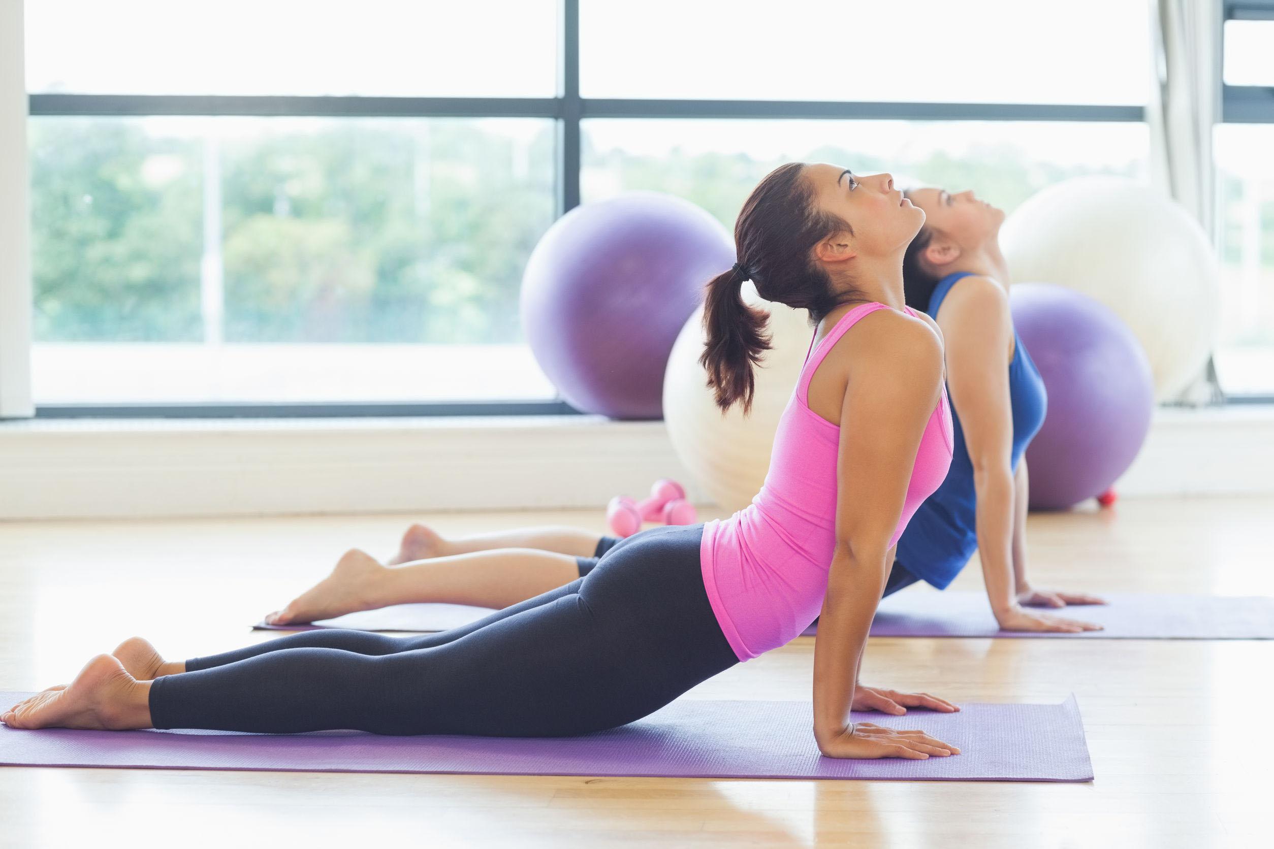 Rutinas de gimnasio. Yoga.
