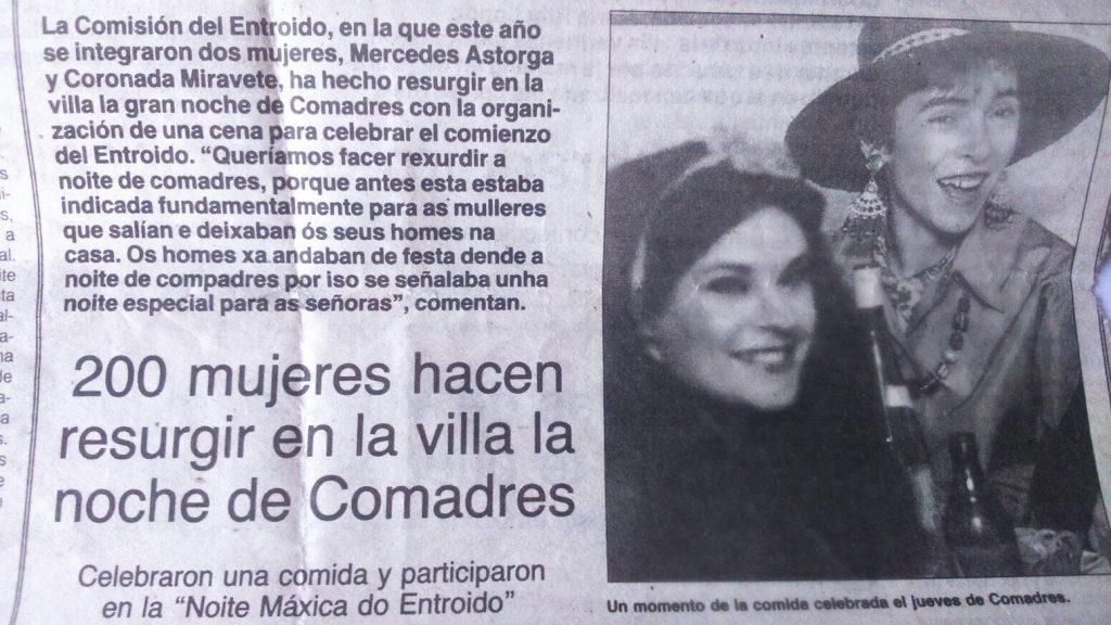 Periódico 1996: carnaval de verín