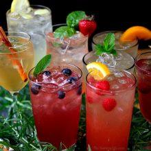 Agua con sabor para depurar el organismo