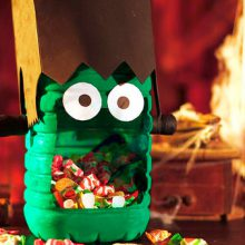 Manualidades para Halloween: ¡un Frankestein con nuestra garrafa!
