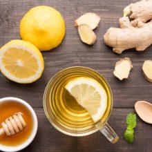 Infusión de jengibre con limón para combatir las comidas pesadas